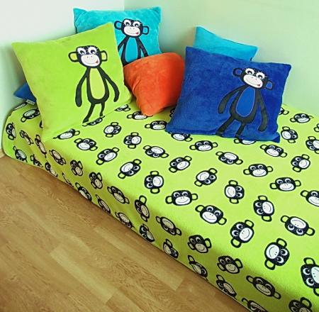 přehoz přes postel Monkey Green