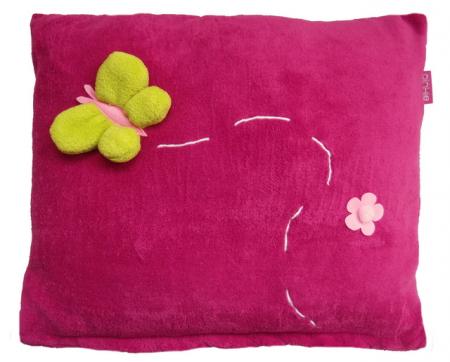 polštář Dark Pink Meadow-větší