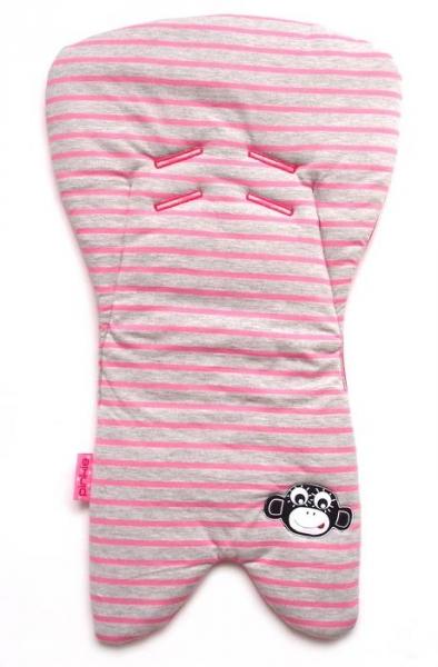 podložka do autosedačky Stripes Grey/Pink