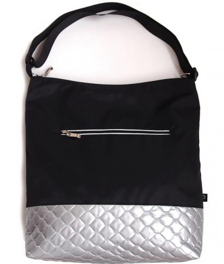 velká taška na kočárek Black Silver