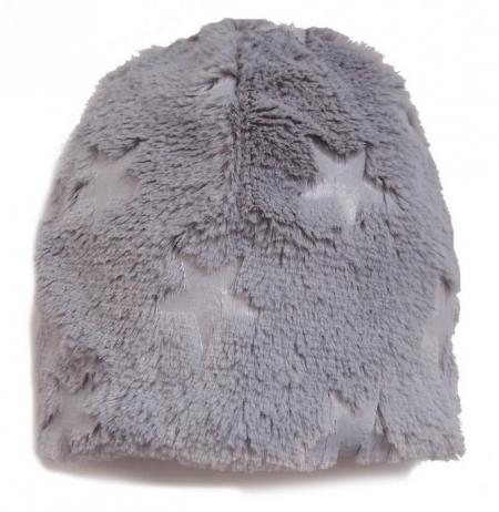 čepice Fur Stars Grey