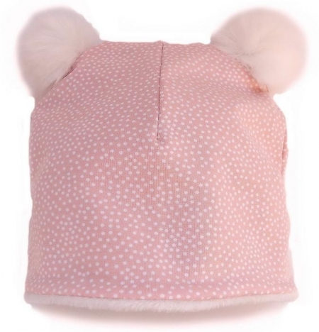 čepice Pink Dots Bobble