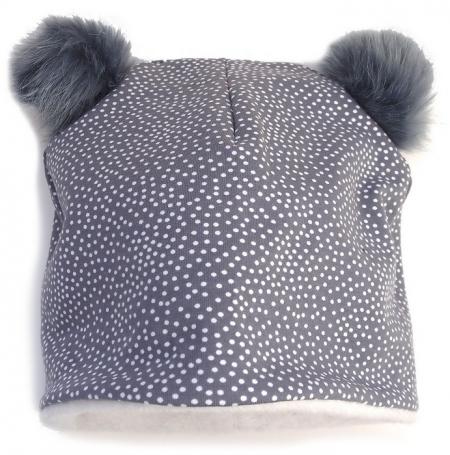 čepice Grey Dots Bobble