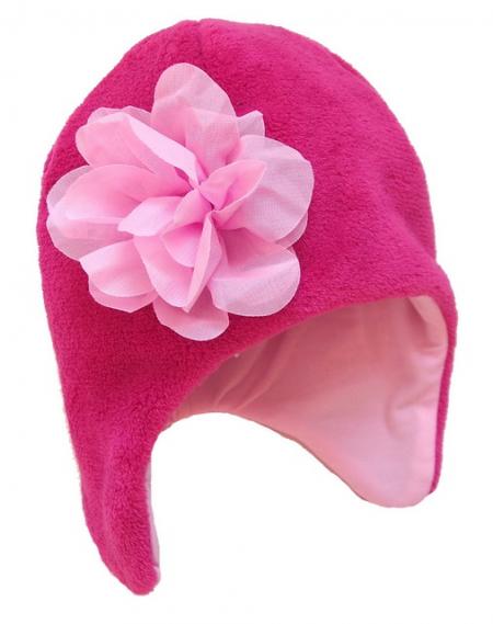 čepice Flower Pink