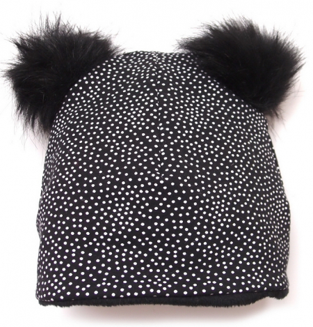čepice Black Dots Bobble