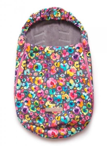 fusak Pinkie Neon Flowers 0-12měsíců