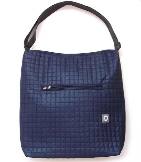 velká taška na kočárek Little Square Dark Blue