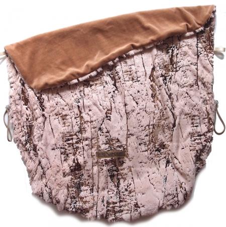 deka se stahováním Fur Gold Pink