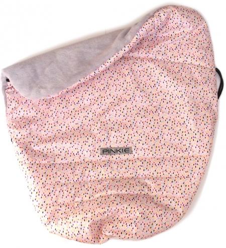 zateplená stahovací deka Pinkie Drop Pink