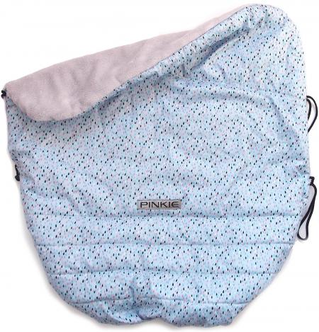 zateplená stahovací deka Pinkie Drop Blue