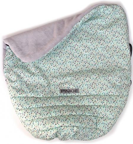 zateplená stahovací deka Pinkie Drop Mint