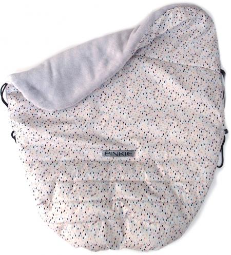 zateplená stahovací deka Pinkie Drop Grey