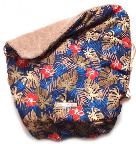 zateplená stahovací deka Pinkie Palm