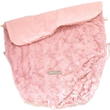 deka se stahováním Fur Soft Pink