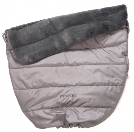 zateplená stahovací deka Pinkie Fur Grey