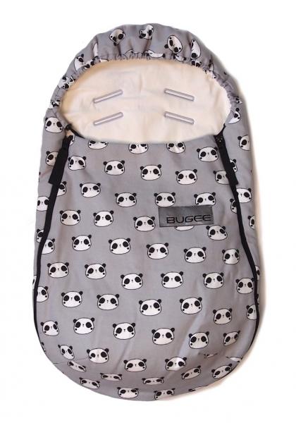 fusak Bugee Panda Grey BIO 0-12měsíců