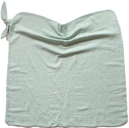 letní deka Pinkie Muslin Mint