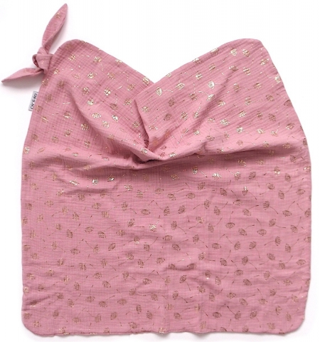 letní deka Muslin Flower Pink