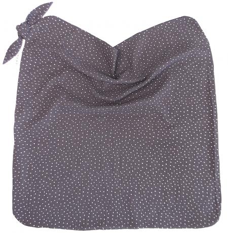 letní deka Muslin Dark Grey Dots