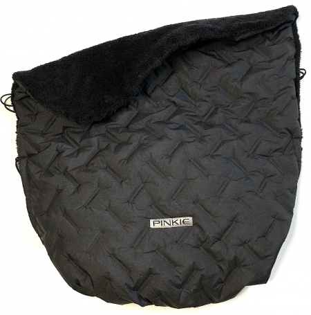 zateplená stahovací deka Zigzag Black