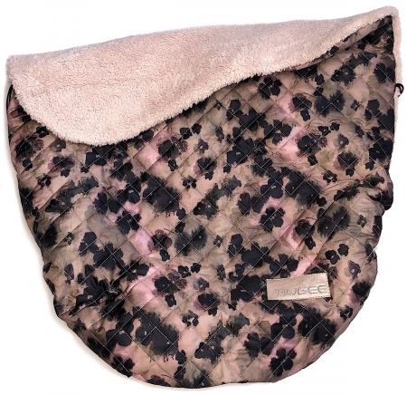 zateplená stahovací deka Black Flowers