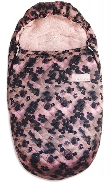 fusak Pinkie Black Flowers