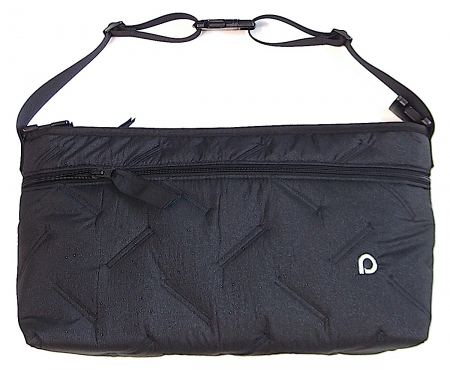 organizér Zigzag Black s přední kapsou-L