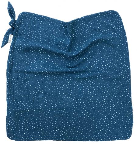 letní deka Pinkie Muslin Blue