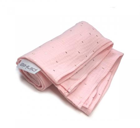 velká plena Pinkie Muslin Light Pink
