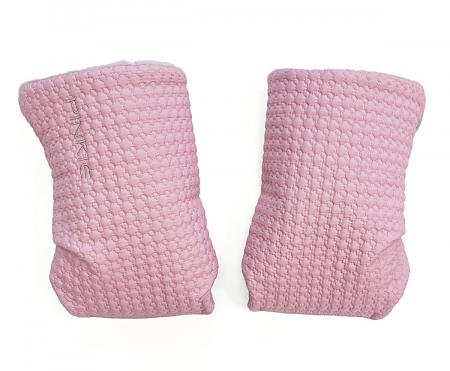 rukavice na kočárek Small Pink Comb