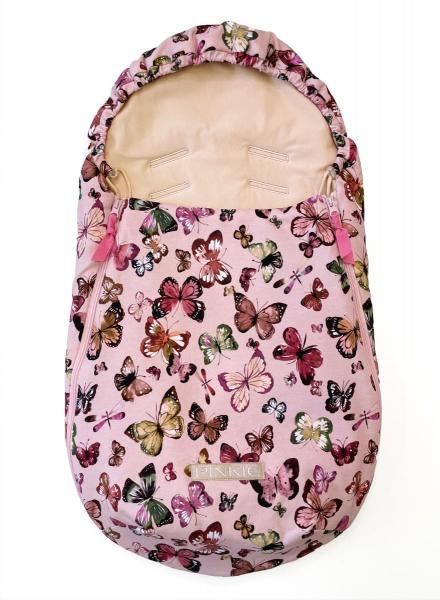 fusak Butterfly Pink BIO 0-12měsíců