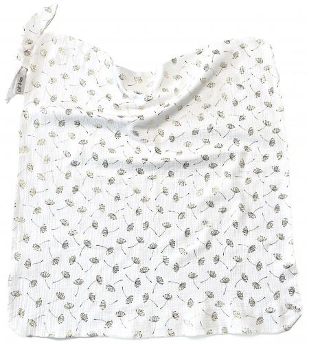 letní deka Muslin Flower White