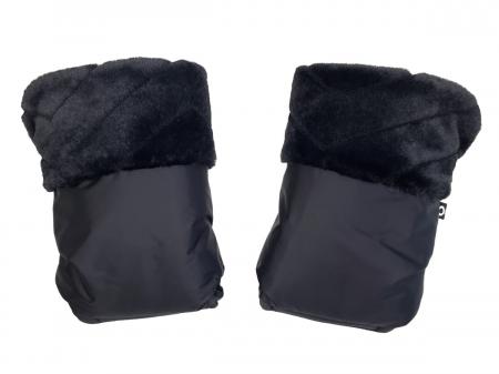rukavice na kočárek Fur Black
