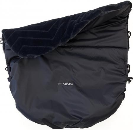 zateplená stahovací deka Pinkie Fur Black