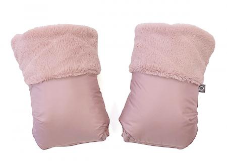 rukavice na kočárek Fur Pink