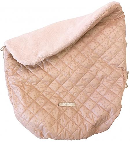 zateplená stahovací deka Soft Pink Dots