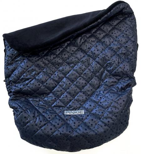 zateplená stahovací deka Dark Blue Dots
