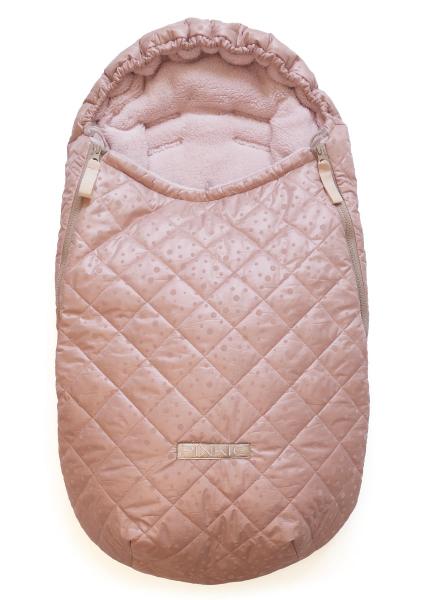 zimní fusak Soft Pink Dots 0-12měs