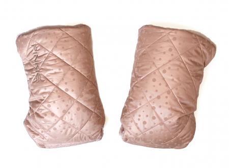 rukavice na kočárek Soft Pink Dots