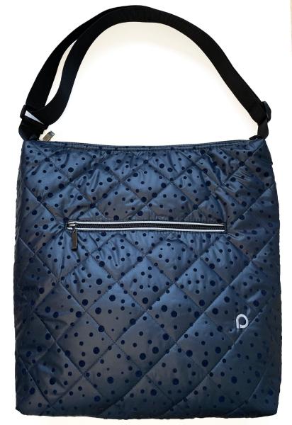 velká taška na kočárek Dark Blue Dots