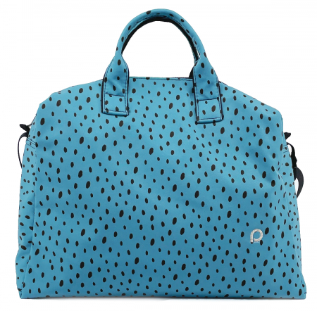 kabela na kočárek Softshell Dots Blue M