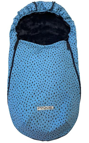 fusak Pinkie Softshell Dots Blue-slabší