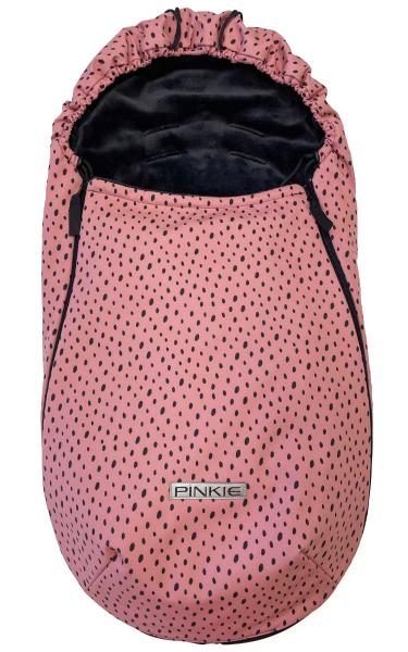 fusak Pinkie Softshell Dots Pink-slabší