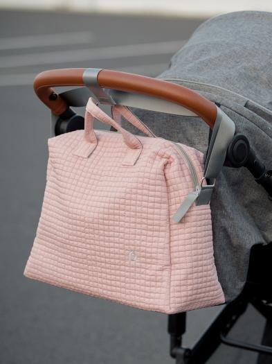 kabela na kočárek Little Square Soft Pink M