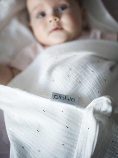letní deka Pinkie Muslin White