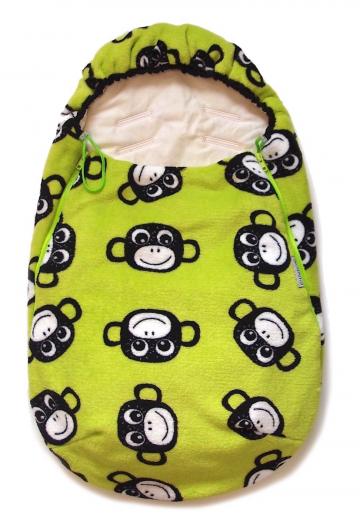 fusak Monkey Green BIO 0-12měsíců