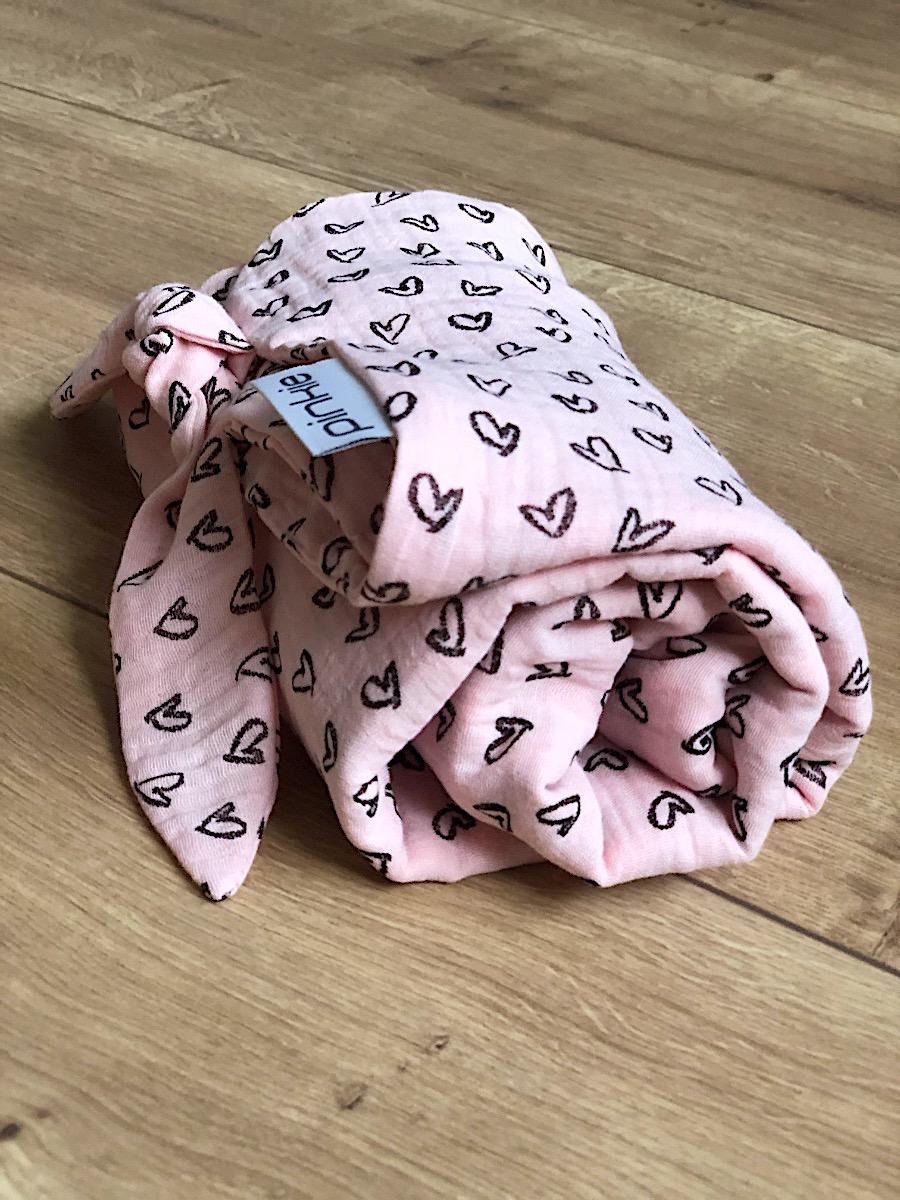 kliknutít zobrazíte maximální velikost obrázku letní deka Pinkie Muslin Pink Heart
