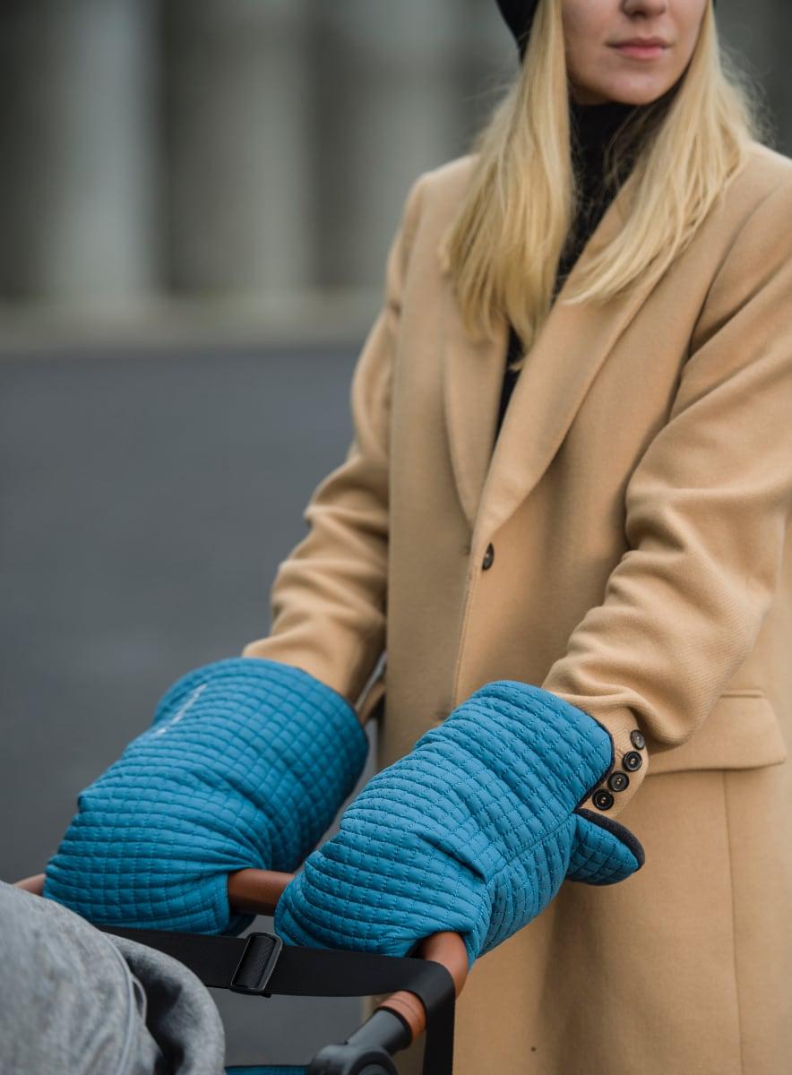 kliknutít zobrazíte maximální velikost obrázku rukavice na kočárek Little Square Petrol